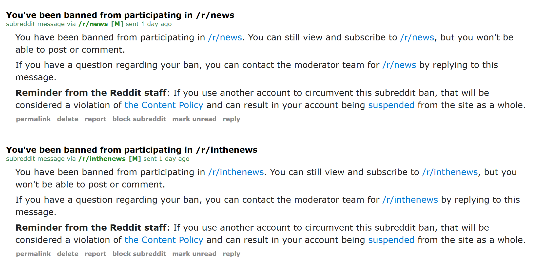 reddit news ban of exposure of fakes
