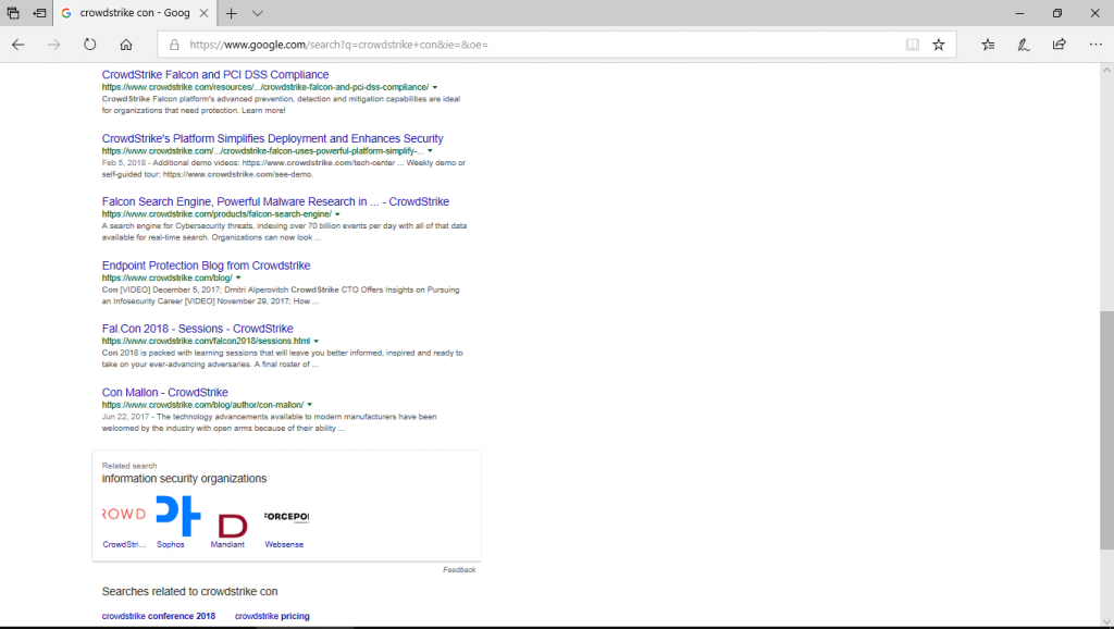 google search crowdstrike con scrolled