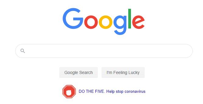 Google homepage coronavirus inforgraphics