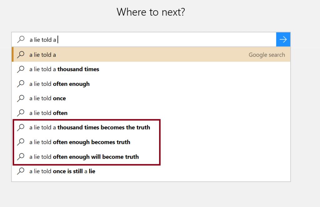 Google auto-suggestions screenshot
