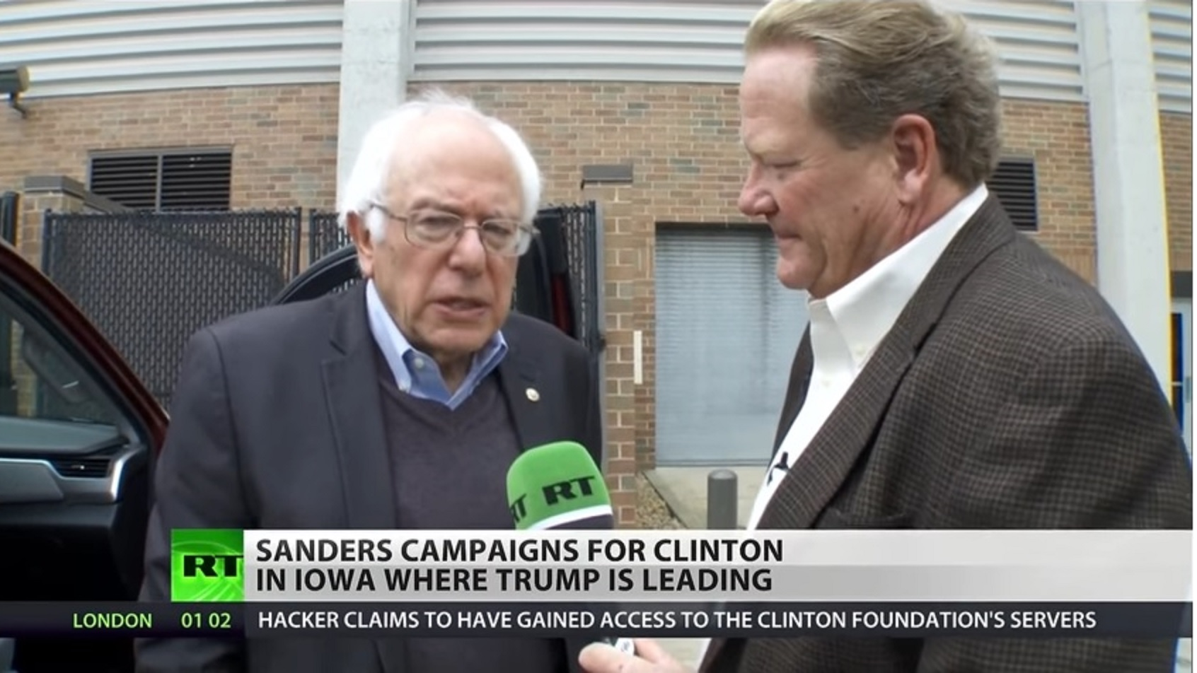 RT Interviews Sanders Campaigning for Hillary