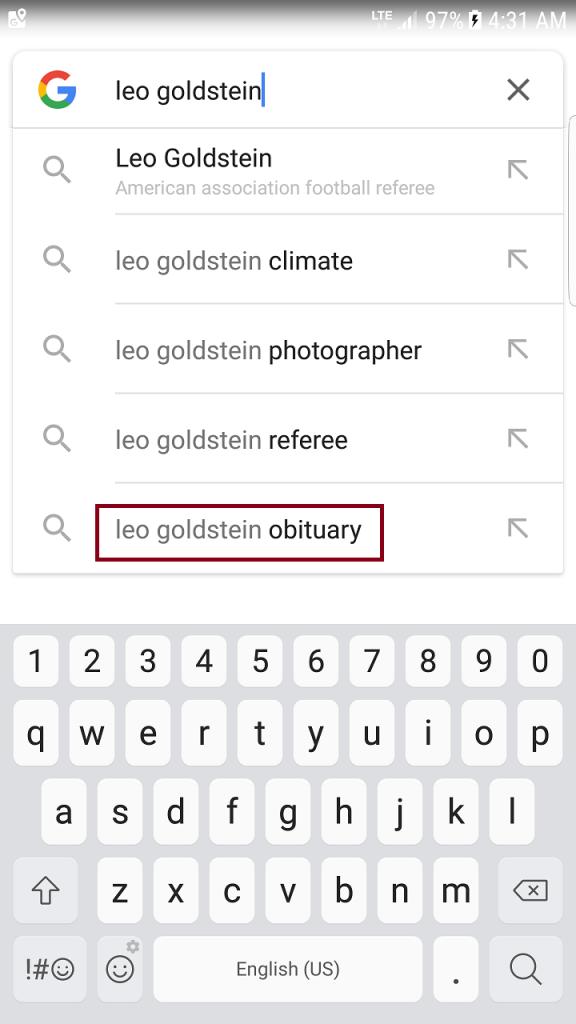 Screnshot of how Google Makes a Threat