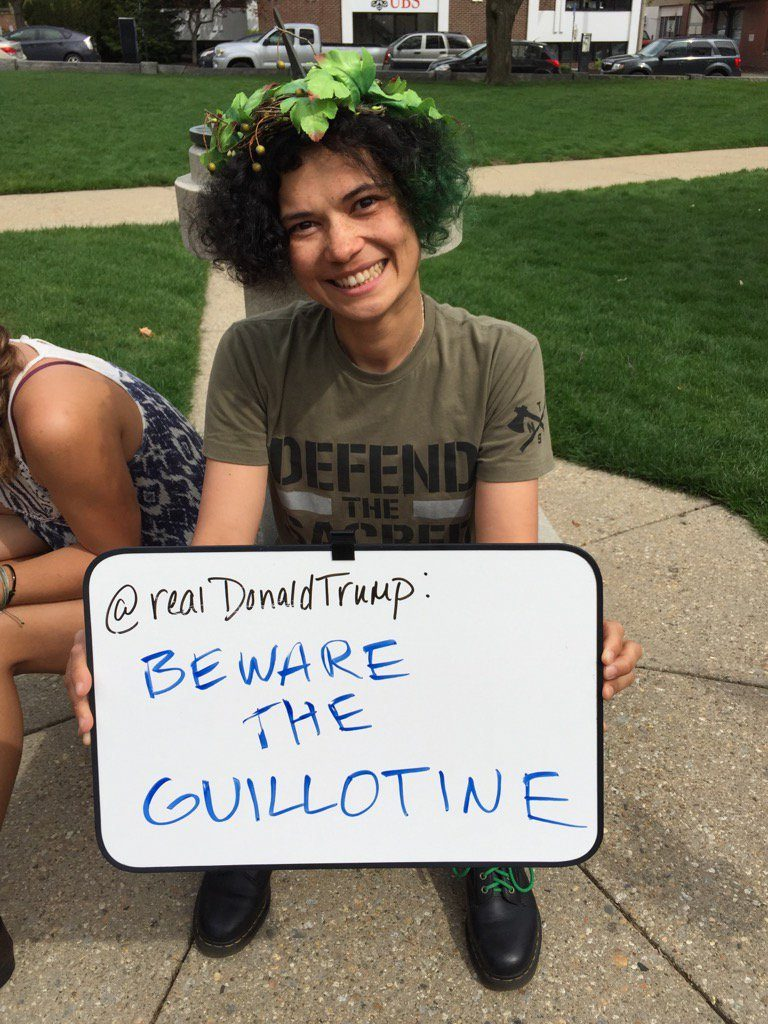 climate march guillotine threat