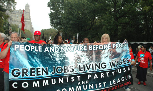 cpusa banner climate march