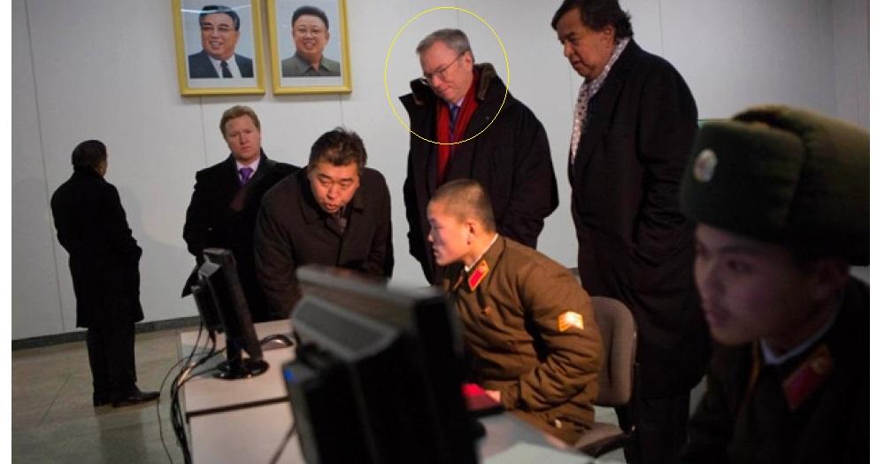 Google Chairman Eric Schmidt advising North Korean military
