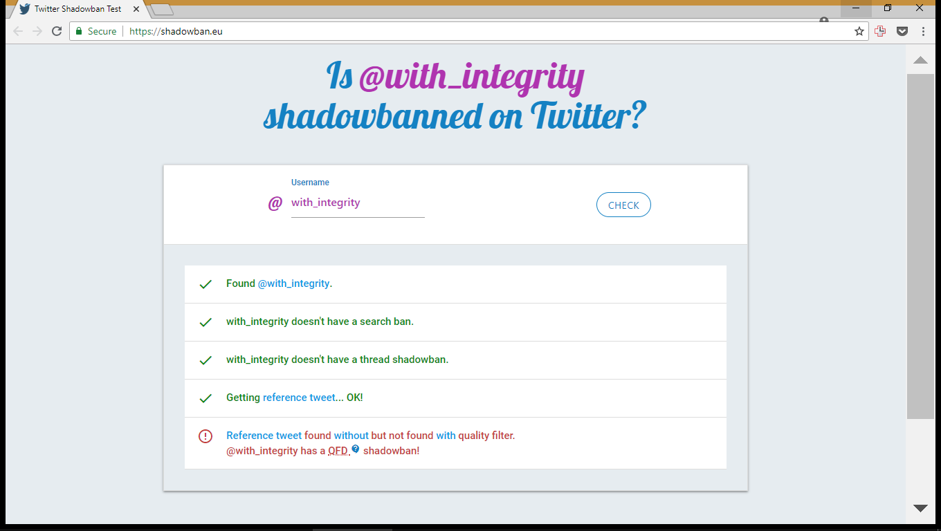 @with_integrity was shadowbanned
